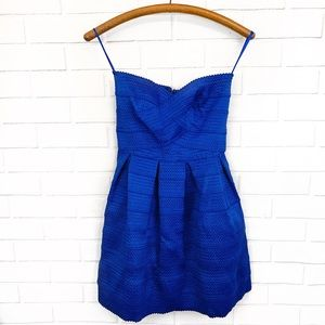 Sans Souci • Royal Blue Strapless Dress